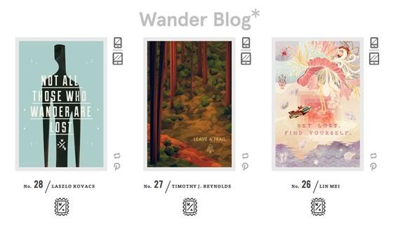 Vista previa de The Wander Postcard Project