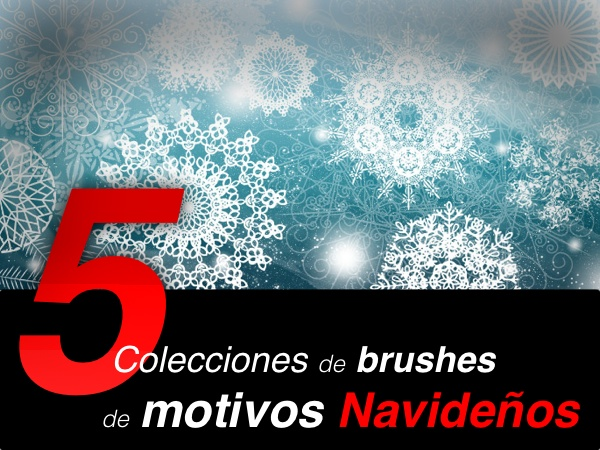 5 colecciones de brushes para Photoshop para navidad