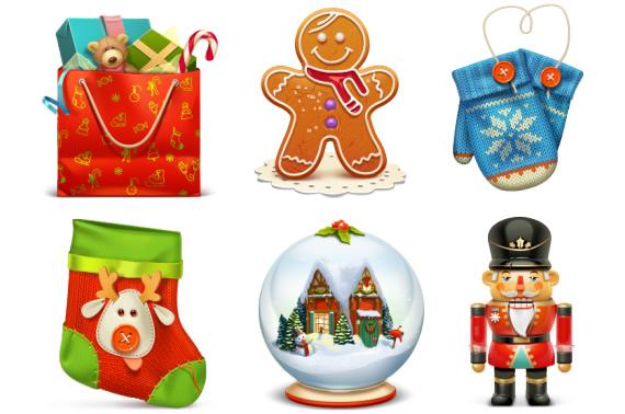 Vista previa de iconos de navidad